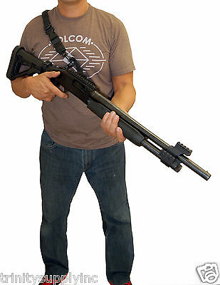 Tactical Bungee Sling For Mossberg 500 , One Point Two Point Sling Black.