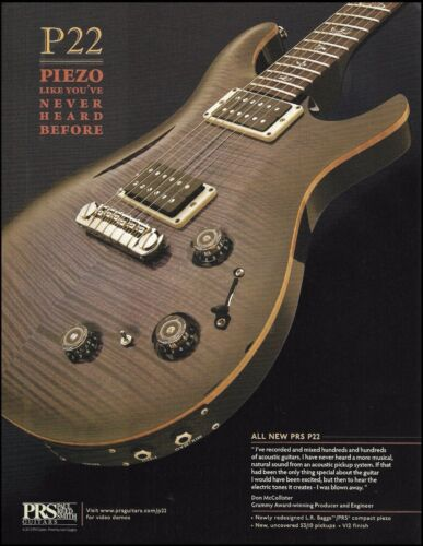 PRS P22 Piezo electric guitar 2012 ad 8 x 11 advertisement print