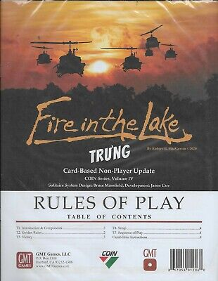 New GMT   FIRE IN THE LAKE TRU'NG   Card-Based Non-Player Update