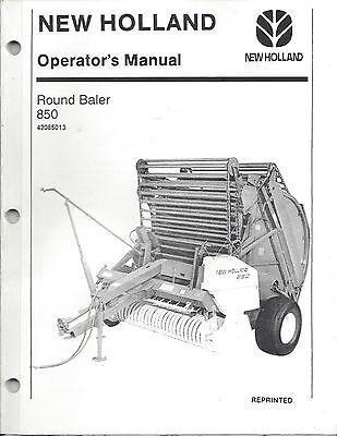 New Holland 850 Round Baler Operator Manual 42085013