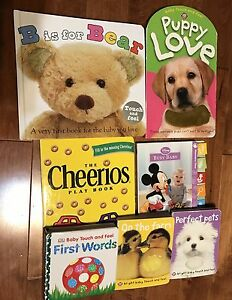 Set of 7 baby textured touch and feel books
