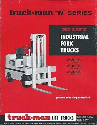 Fork Lift Truck Brochure - Truck-man - W-3024c 4024c 5024c Lt371