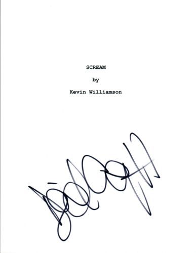 David Arquette Signed Autographed SCREAM Movie Script COA