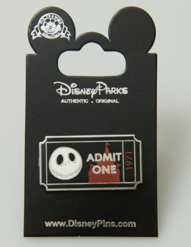 Disney Pin Jack Skellington The Nightmare Before Christmas Admit One Pin New