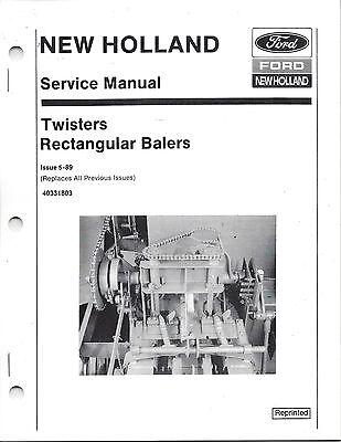 New Holland Twister Rectangular Balers Service Manual 40331803