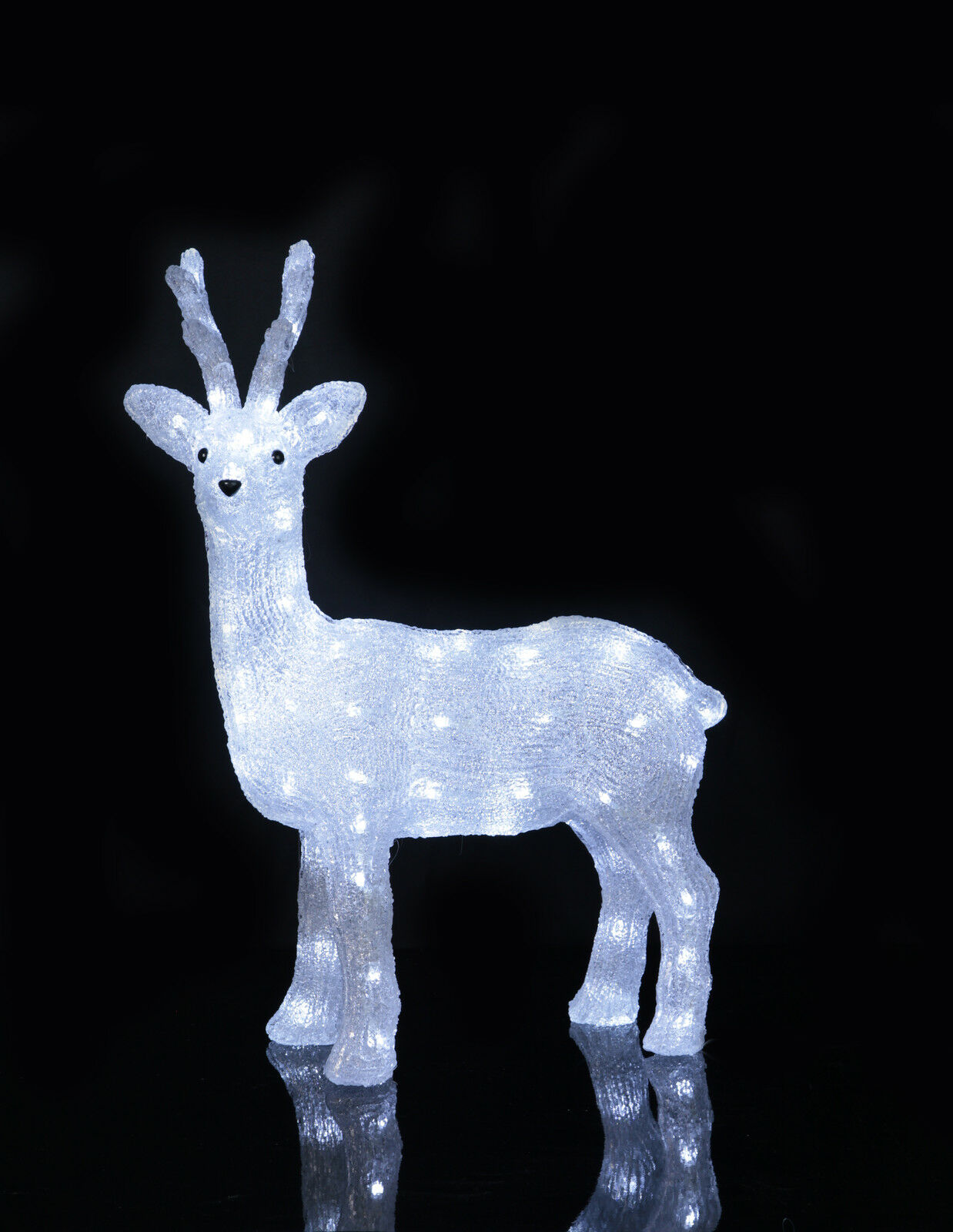led acryl rentier elch 64 cm beleuchtet weihnachtselch 80 led au en 70382 eur 99 00 picclick de. Black Bedroom Furniture Sets. Home Design Ideas