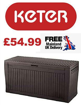 "Keter - ""Comfy"" Wood effect plastic garden storage box (270L capacity) UK STOCK!"