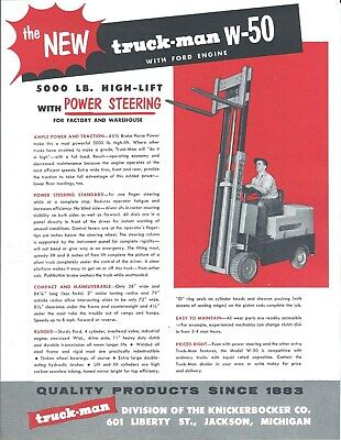 Fork Lift Truck Brochure - Truck-man - W-50 - Ford Engine Lt367