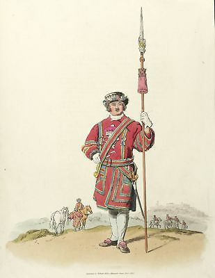 UNIFORMEN - ENGLAND - KÖNIGLICHE LEIBGARDE - Pyne - kol. Aquatinta 1805