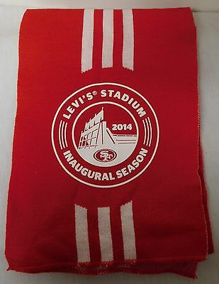 LEVI STADIUM SAN FRANCISCO 49ERS SCARF COME TO PLAY 2014 INAUGURAL SEASON EUC