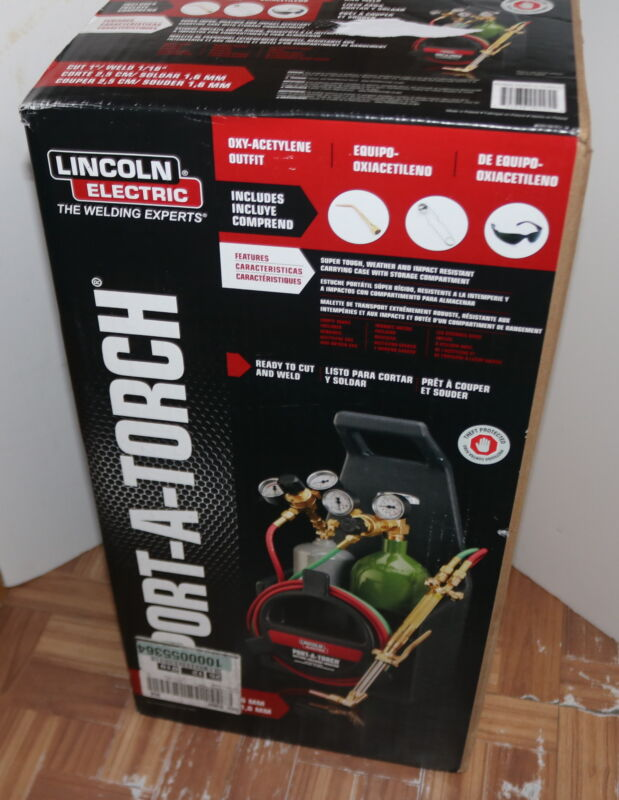 LINCOLON ELECTRIC Port-A-Torch Kit with Oxygen and Acetylene Tanks