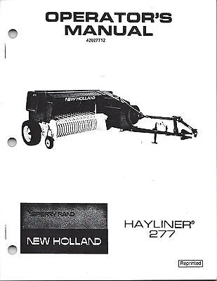 New Holland 277 Square Baler Operator Manual 42027712