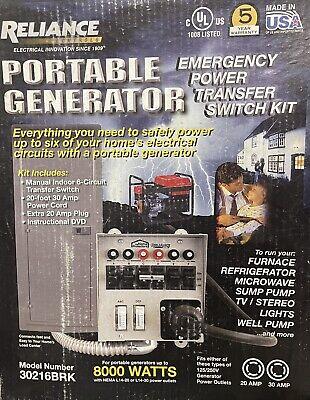 Portable Generator Transfer Switch Kit 30216brk