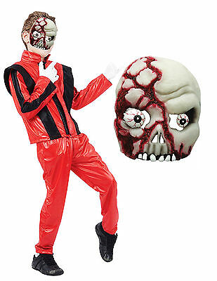 Boys Girls Kids Michael Jackson Thriller Zombie Halloween Fancy Dress - Michael Jackson Zombie Kostüm