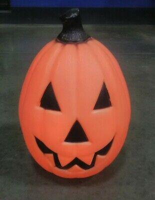 "Vintage 22"" Pumpkin Blow Mold Yard Decor Halloween Lighted Jack O Lantern Empire"