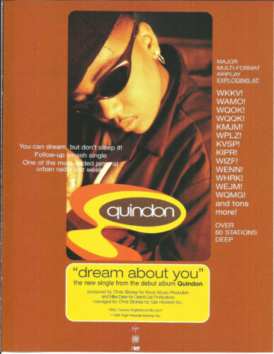 QUIDON Dream About you RARE PROMO TRADE AD Poster for 1996 CD MINT USA