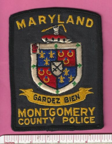 Montgomery County MD State of Maryland Law Enforcement Police Shoulder Patch V1