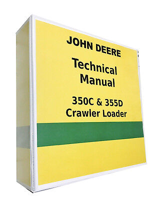John Deere 350c Crawler Loader Technical Service Shop Repair Manual 857 Pages