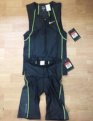 Nike Tri Suit Top & Shorts Set Light Weight Running/Triathlon Men's XS New