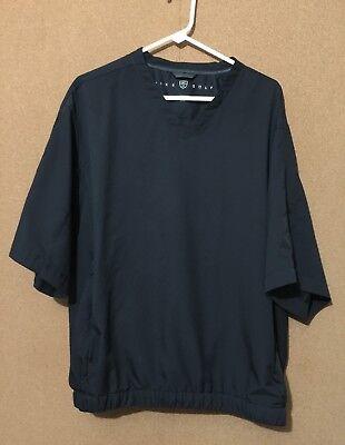 NIKE GOLF Men's Pullover Windbreaker Coat Jacket Size L Large Polyester