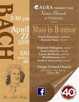 Aura Chamber Choir presents Bach's B Minor Mass