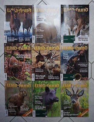 9 Zeitschriften Wild und Hund Sammlung 2017 Jagdmagazin Jagd Jäger Wald Forst