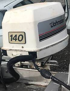 Outboard Johnson 140hp VRO V4 Trim and Tilt SS Prop Fwd Controls Belmont Brisbane South East Preview