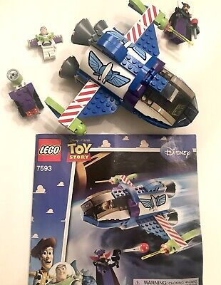 LEGO Toy Story 7593 Buzz's Star Command Spaceship 99% Complete w/ Manual & Figs