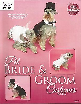 Pet Bride & Groom Costumes Clothing Crochet Instruction Patterns Darla Sims NEW (Sims Costume)