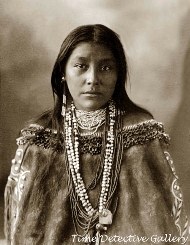 "Native American Chiricahua Apache Woman ""Hattie Tom"" -1898- Historic Photo Print"