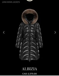 99%new moncler hooded puffer coat .you need one in winter
