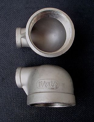 Stainless Steel Elbow 90 Reducer 1 12 - 12 Npt Pipe Re-150-050