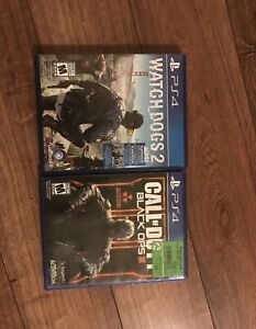 Cod black ops 3 , watch dogs 2 , for ps4