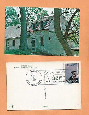 BATSTO NJ POST OFFICE SEP 19,1976 BI CENTENNIAL   POSTCARD