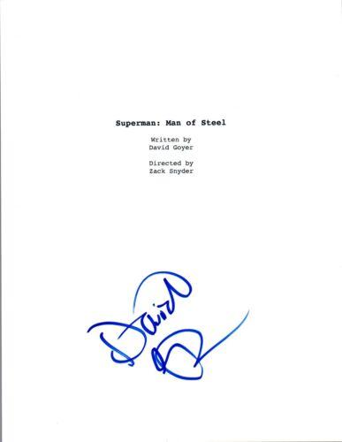 David Goyer Signed Autographed SUPERMAN MAN OF STEEL Movie Script COA VD