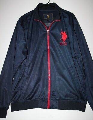 Mens US Polo Assn. Jacket / Winbreaker XL - Black & Red