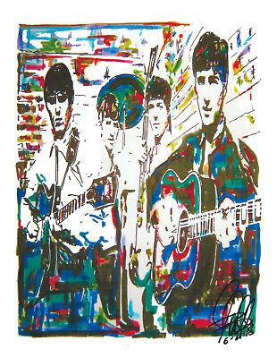 The Beatles John Paul George Ringo Fab Four Music Print Poster Wall Art