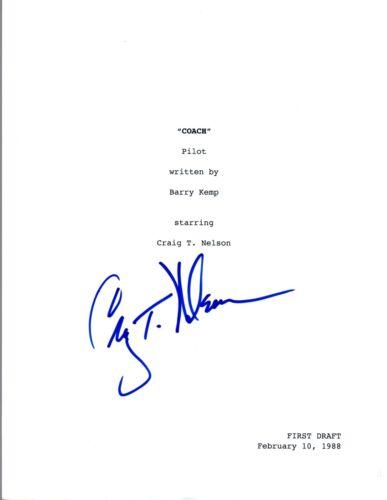 Craig T. Nelson Signed Autographed COACH Pilot Episode Script COA VD
