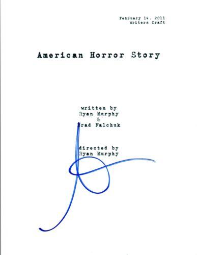 Sarah Paulson Signed Autograph AMERICAN HORROR STORY Pilot Episode Script COA AB