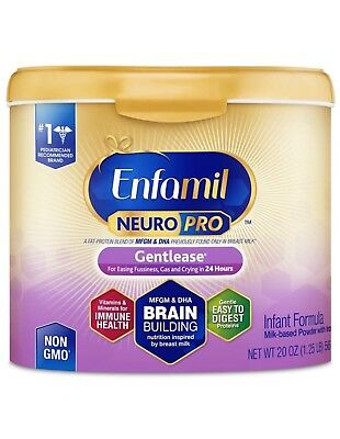 Enfamil NeuroPro Gentlease Infant Formula, 20 oz. Exp. 12/2020.