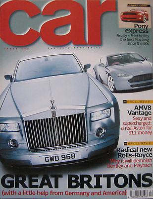 CAR 02/2003 featuring Aston Martin V8 Vantage, Rolls Royce, Audi S4, Ford, BMW, used for sale  United Kingdom