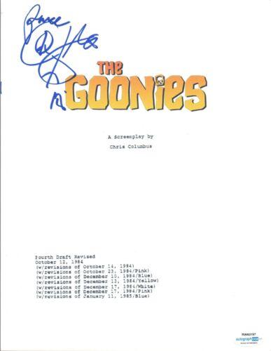 Corey Feldman Signed Autographed THE GOONIES Full Movie Script ACOA Witnessed