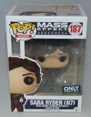 New Funko POP Mass Effect Andromeda Sara Ryder (N7) Vinyl Figure #187 Best
