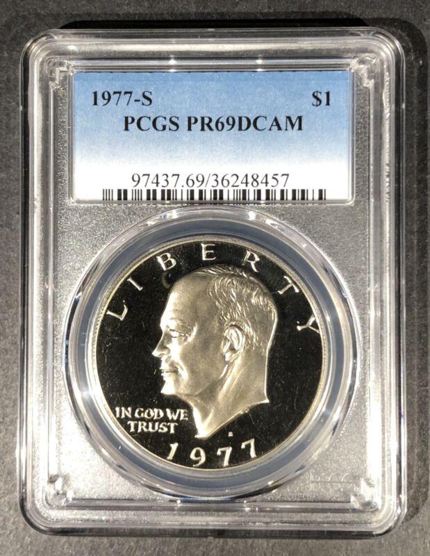 1977-S Proof Eisenhower Dollar PCGS PR-69 DCAM, Buy 3 Items, Get $5 Off!!