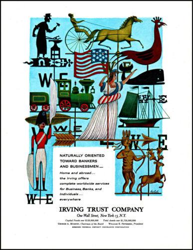 1961 Irving Trust Company Wall Street New York vintage art photo print ad L27