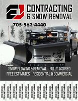 Snows coming, free quote seasonal snow removal