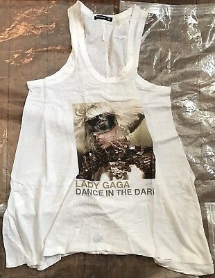 Lady Gaga Dance In The Dark Medium White Women's Dress New Official