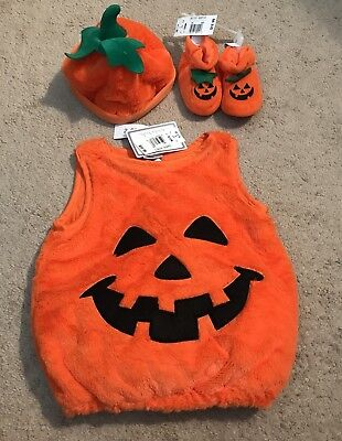 Koala Kids 2 Piece Pumpkin Halloween Costume with Hat 9-12Months & Shoes - Kids Pumpkin Halloween Costumes