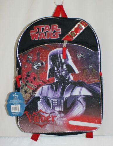 Star Wars Backpack Disney Black Darth Vader Ages 3+ ~ NWT New