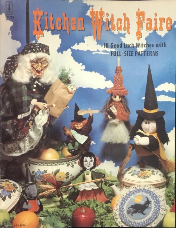 Kitchen Witch Faire Pattern Book for Making Kitchen Good Luck Witches